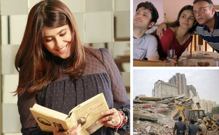 Ekta Kapoor visits residents of a collapsed building ahead of her show's release