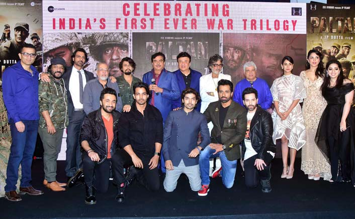 JP Dutta, Javed Akhtar, Anu Malik, Sonu Nigam along with team Paltan celebrates India's first war triology