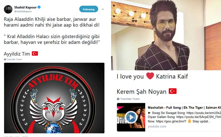 Shahid Kapoor's Social Media Account HACKED! Hackers Tweet I Love You Katrina Kaif!