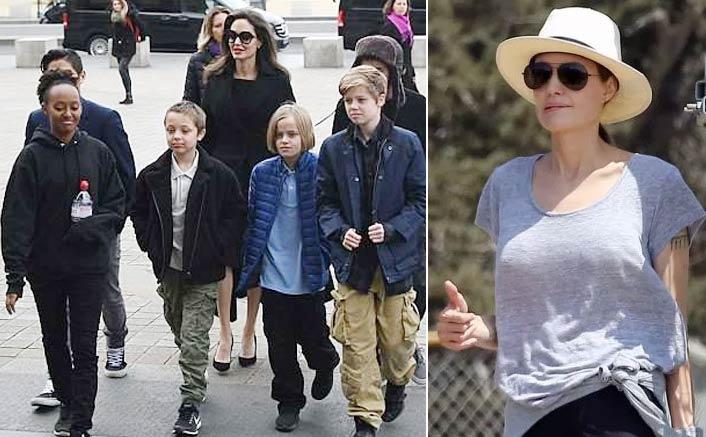 Angelina Jolie enjoys with children after custody agreement