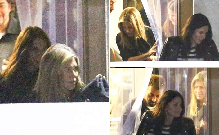 'Friends' co-stars Aniston, Cox reunite