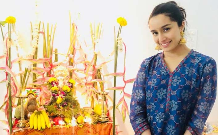 Shraddha Kapoor takes the day off, celebrates Ganesh Chaturthi with grandparents