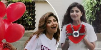"""What is Shilpa Shetty Kundra hiding behind 100 balloons?"""