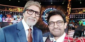 Aamir Khan shoots for 'KBC' with Big B