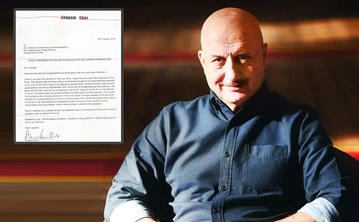 Anupam Kher Resigns As FTII Chief Due To THIS Reason!