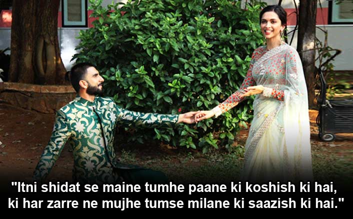 Deepika Padukone & Ranveer Singh Wedding: These Bollywood Dialogues Aptly Describe Their Love Life!