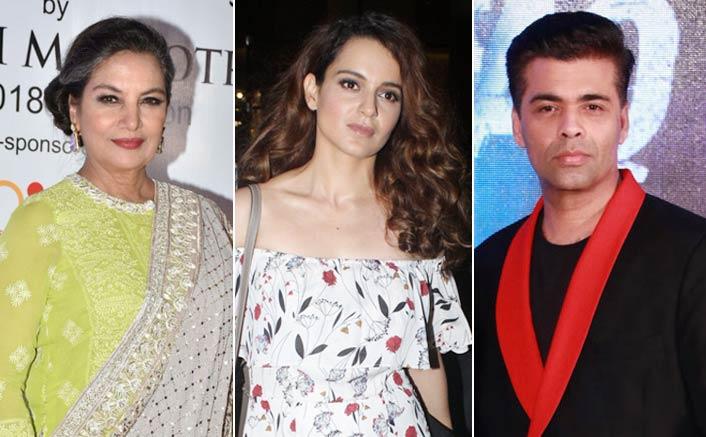 Kangana Ranaut CALLS OUT Karan Johar, Shabana Azmi to SPEAK UP about #MeToo
