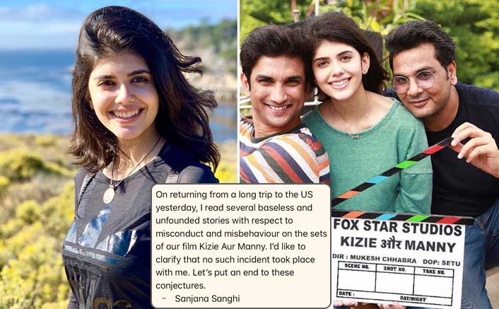 Actress Sanjana Sanghi Clears The Air Over The #MeToo Allegations On Co-Star Sushant Singh Rajput