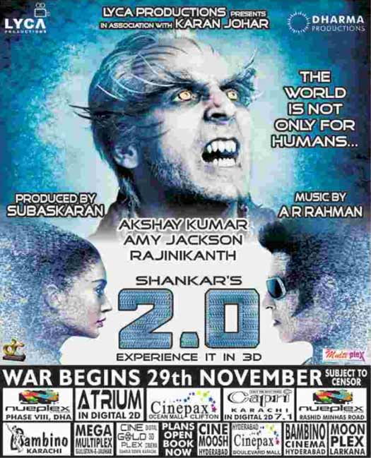 2.0 In Pakistan! Advance Booking Commences In Full Swing For This Rajinikanth & Akshay Kumar Starrer