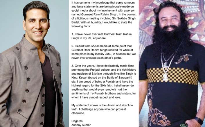 Akshay Kumar Puts All The Rumours Surrounding A Meet With Gurmeet Ram Rahim Singh To Rest!