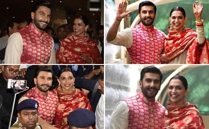 Newlyweds Deepika Padukone and Ranveer Singh arrive in Mumbai