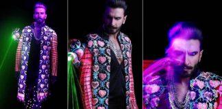 Ranveer Singh flaunts Manish Arora design for celebratory dinner