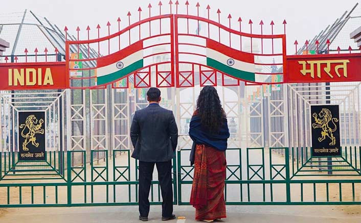 Salman Khan shares a glimpse of Bharat from Wagah Border