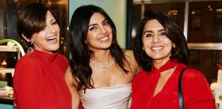 Sonali wishes 'love, laughter' to Priyanka on 'big step'