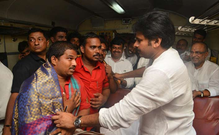 South superstar Pawan Kalyan embarks on a train journey to interact with people