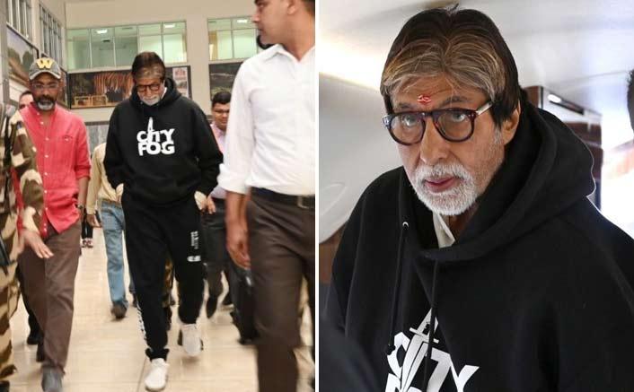 Amitabh Bachchan shoots for 'Jhund' in Nagpur