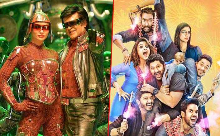 Box Office - 2.0 [Hindi] progressing on the same lines as last year's Diwali Blockbuster Golmaal Again