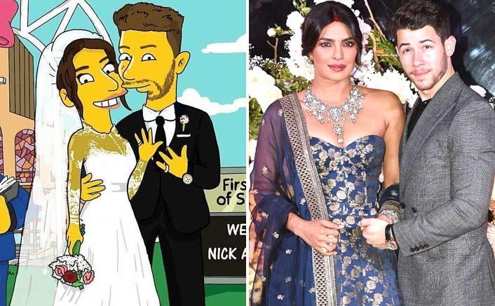 Priyanka Chopra & Nick Jonas Turned Into Simpson Caricatures!