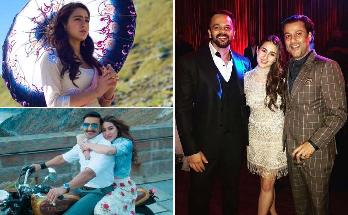 Sara Ali Khan shares a picture perfect moment with Abhishek Kapoor and Rohit Shetty at Deep-Veer reception