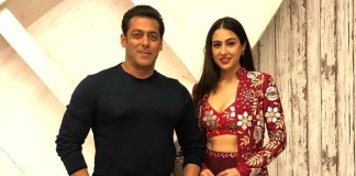 Sara Ali Khan with the biggest boss Salman Khan