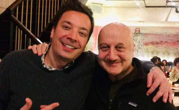 Anupam Kher, Jimmy Fallon meet, share mutual admiration