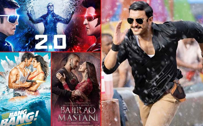 Box Office - Simmba has a fantastic second weekend, goes past 2.0 (Hindi), Bang Bang and Bajirao Mastani