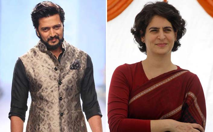 Riteish congratulates Priyanka Gandhi on new role in Congress