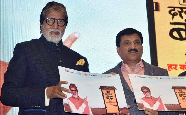 Amitabh Bachchan urges people to use toilets