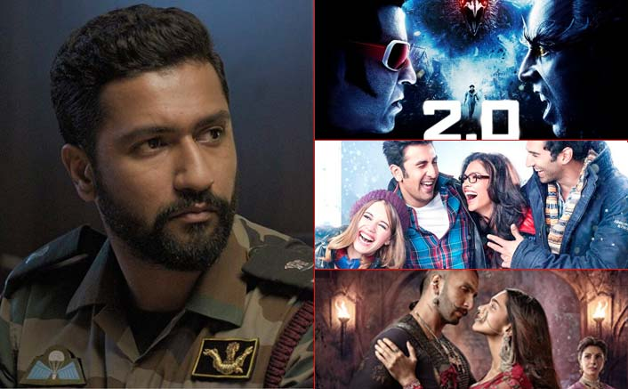 Box Office - Uri - The Surgical Strike goes past 2.0 [Hindi], Bajirao Mastani, YJHD lifetime in just 24 days