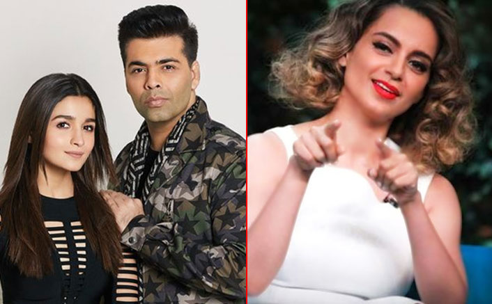 "Kangana Ranaut Hits Alia Bhatt & Karan Johar: ""Nepotism Gang Life Is Simply Restricted To Give & Take Favours"""