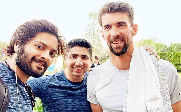 Fanboy Ali Fazal, Phelps exchange fitness tips