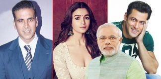 Salman Khan, Akshay Kumar, Alia Bhatt - Narendra Modi In His FILMY Style Urges Entire B'Town To Create Voting Awareness