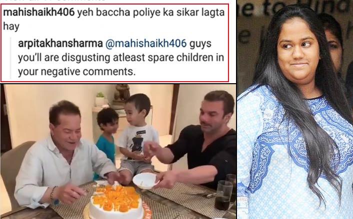 "Arpita Khan Lashes Out Son Ahil's Troller Who Termed Him ""Polio Ka Shikar"""