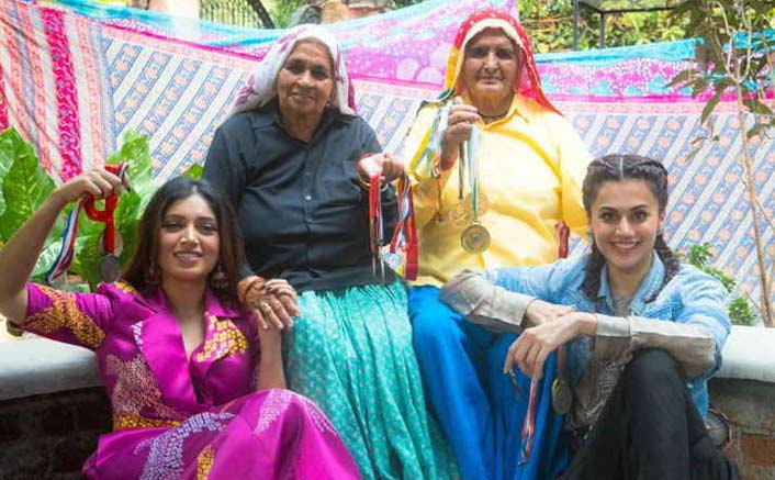 It's An Emotional Moment For Leading Ladies Taapsee Pannu & Bhumi Pednekar As Saand Ki Aankh Wraps Up