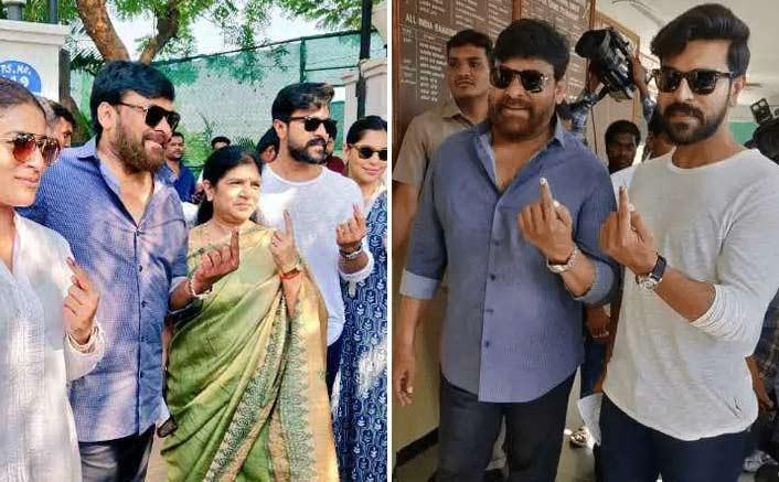 Chiranjeevi, Jr. NTR, Ram Charan cast their vote