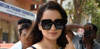 Kangana votes, attacks Congress & Sonia Gandhi