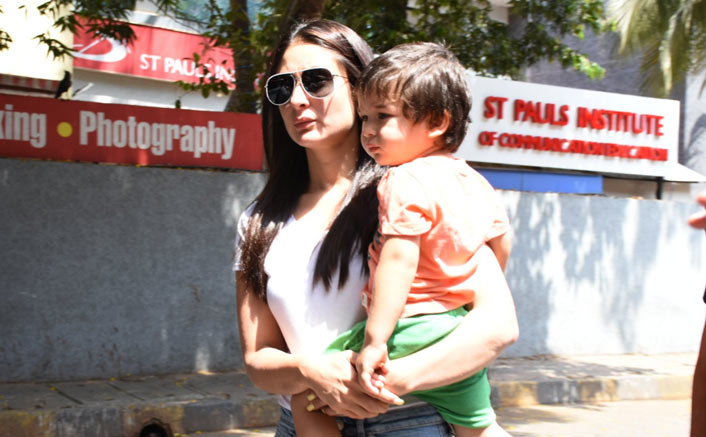 Kareena brings Taimur along to cast her vote