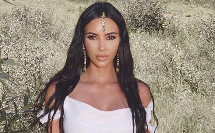 Kim Kardashian sports maang tika to church, slammmed
