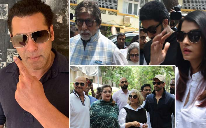 Lok Sabha Election 2019 Live Updates: Salman Khan, Bachchan Family, Hrithik Roshan & Other B-Town Celebs Step Out To Cast Their Vote!