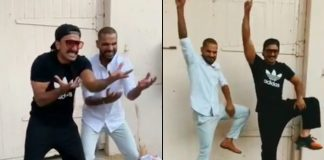 Ranveer, Shikhar Dhawan recreate 'Khalibali' step