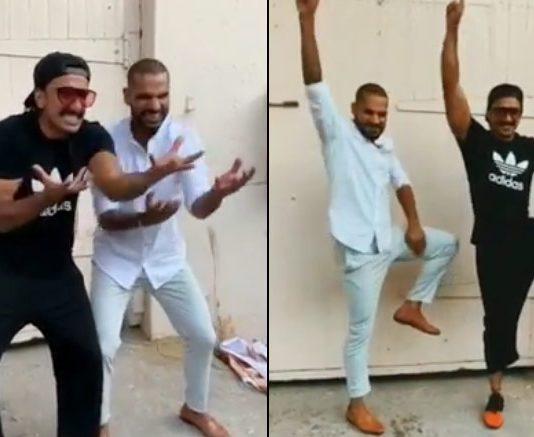 Ranveer, Shikhar Dhawan recreate 'Khalibali' step
