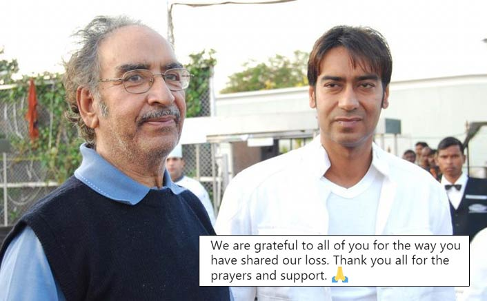 Ajay Devgn Thanks Fans And Industry For Supporting Him And Family Post Dad Veeru Devgan's Death