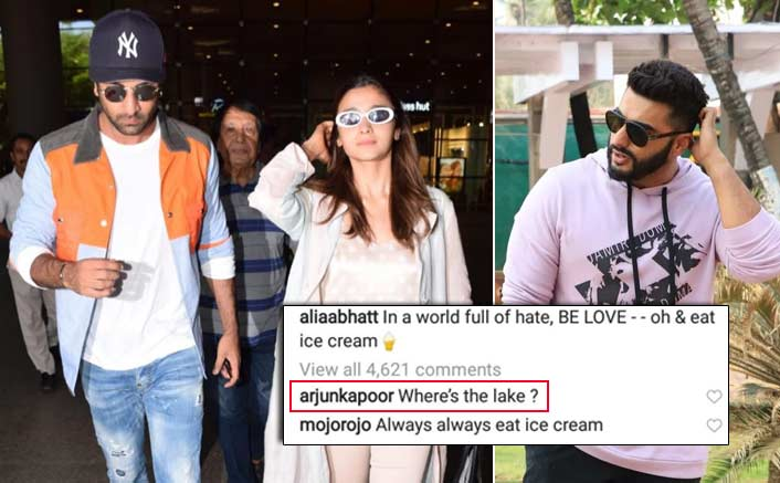 Ranbir Kapoor Is Missing From Alia Bhatt's 'Lake Como' Pic; Arjun Kapoor Has An Epic Reply For It!