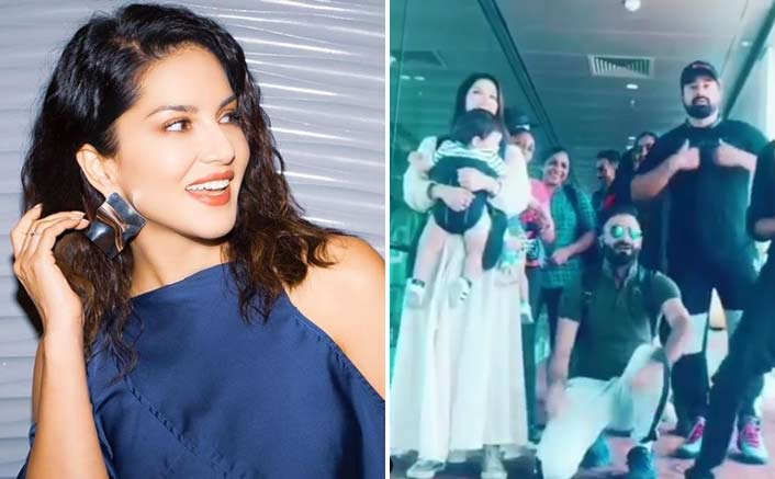 Bollywood's 'Baby Doll' Sunny Leone gets son dancing