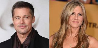 Brad Pitt laughs off claims he's dating Aniston
