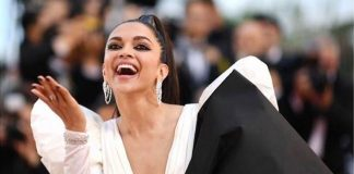 Deepika goes dramatic with big bow at Cannes