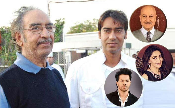 From Madhuri Dixit To Anupam Kher - Celebs Pay Their Last Tributes To Ajay Devgn's Father Veeru Devgn