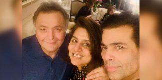 KJo meets 'favourite couple' Rishi, Neetu in NY
