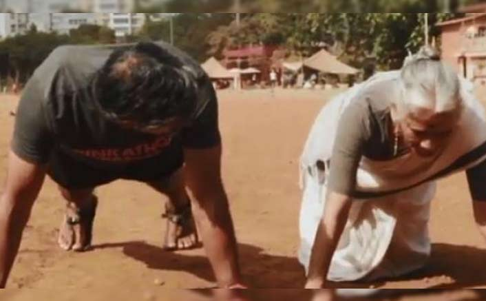 VIRAL VIDEO: Milind Soman's 80-Year-Old Mother Doing Push-Ups Is All The Motivation You Need Today!