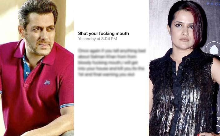 "Salman Khan Fan Threatens To Kill Sona Mohaptra, Writes ""It's The 1st & Last Warning, You S***"""